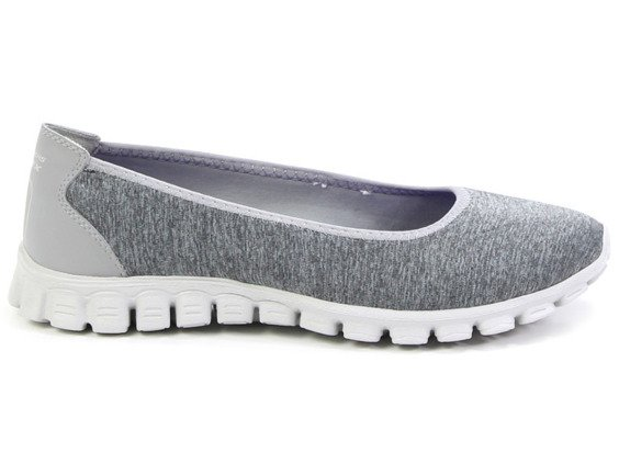 Balerinki Skechers Roll-with 22635 GRY